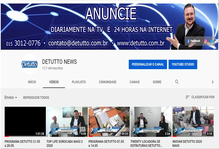 Canal do Detutto no youtube bate recorde de inscritos!